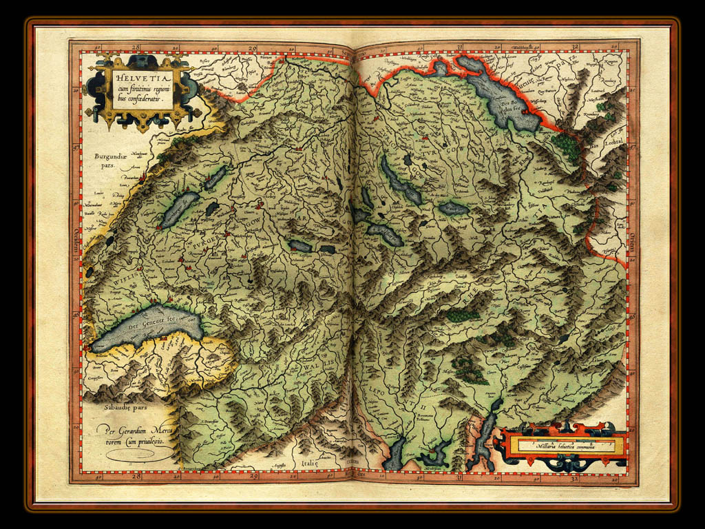 """Gerhard Mercator 1595 World Atlas - Cosmographicae"" - Wallpaper No. 61 of 106. Right click for saving options."