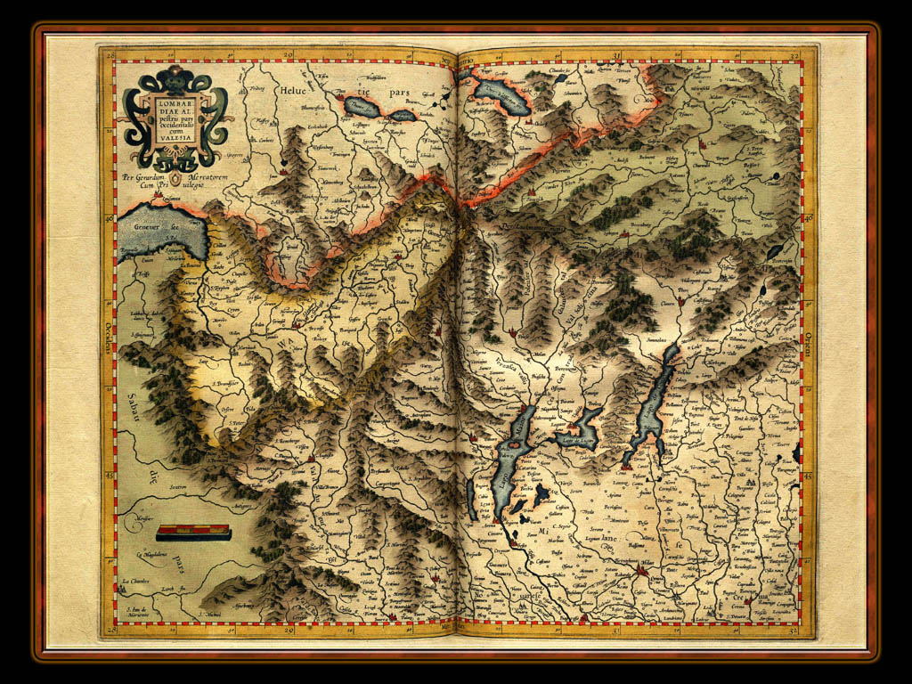 """Gerhard Mercator 1595 World Atlas - Cosmographicae"" - Wallpaper No. 21 of 106. Right click for saving options."