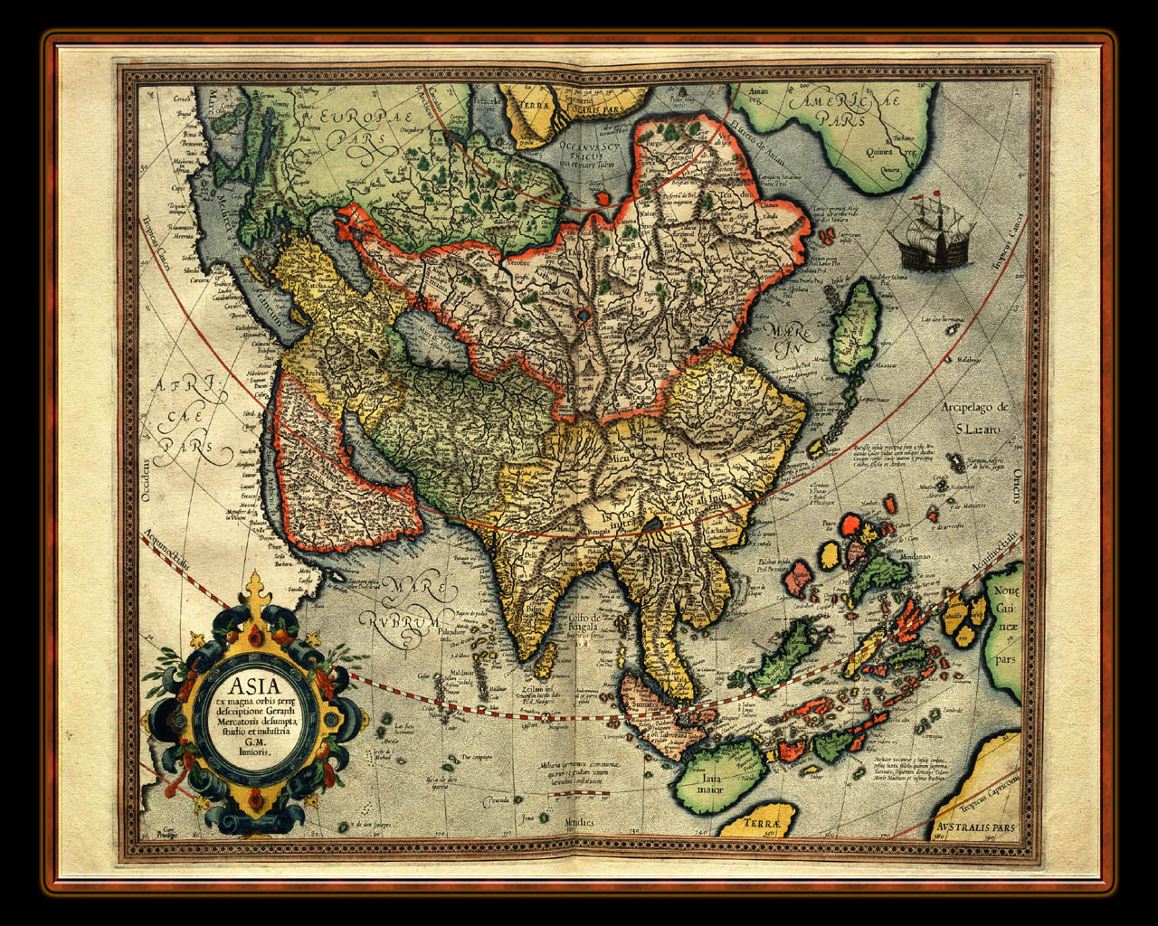 """Gerhard Mercator 1595 World Atlas - Cosmographicae"" - Wallpaper No. 103 of 106. Right click for saving options."