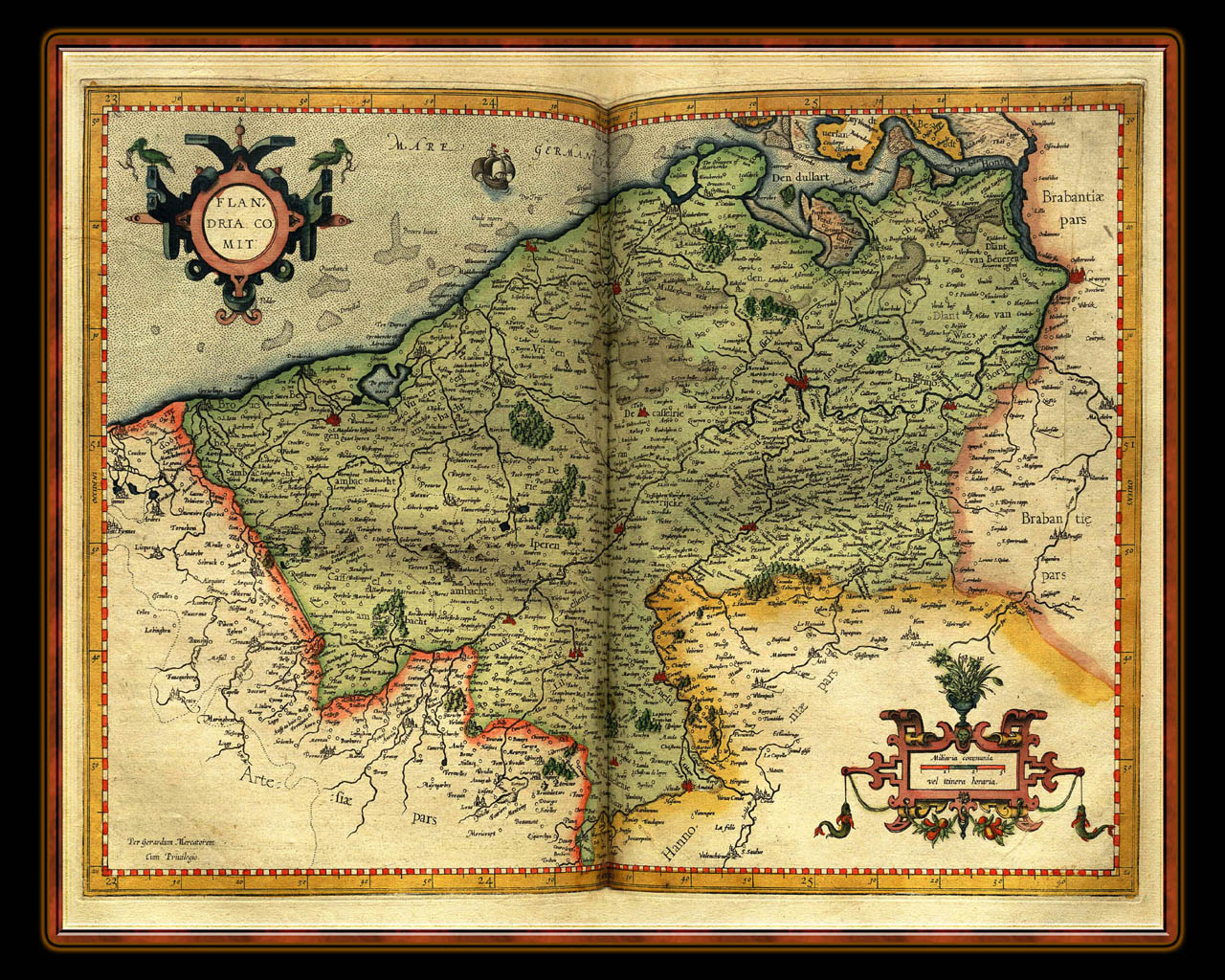 """Gerhard Mercator 1595 World Atlas - Cosmographicae"" - Wallpaper No. 56 of 106. Right click for saving options."