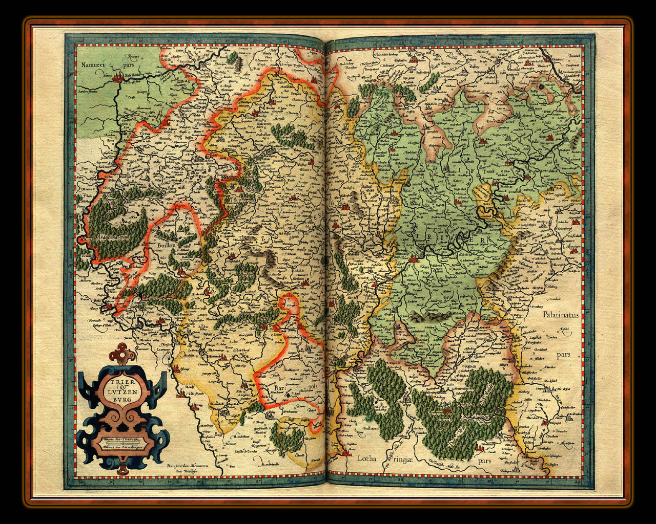 """Gerhard Mercator 1595 World Atlas - Cosmographicae"" - Wallpaper No. 49 of 106. Right click for saving options."