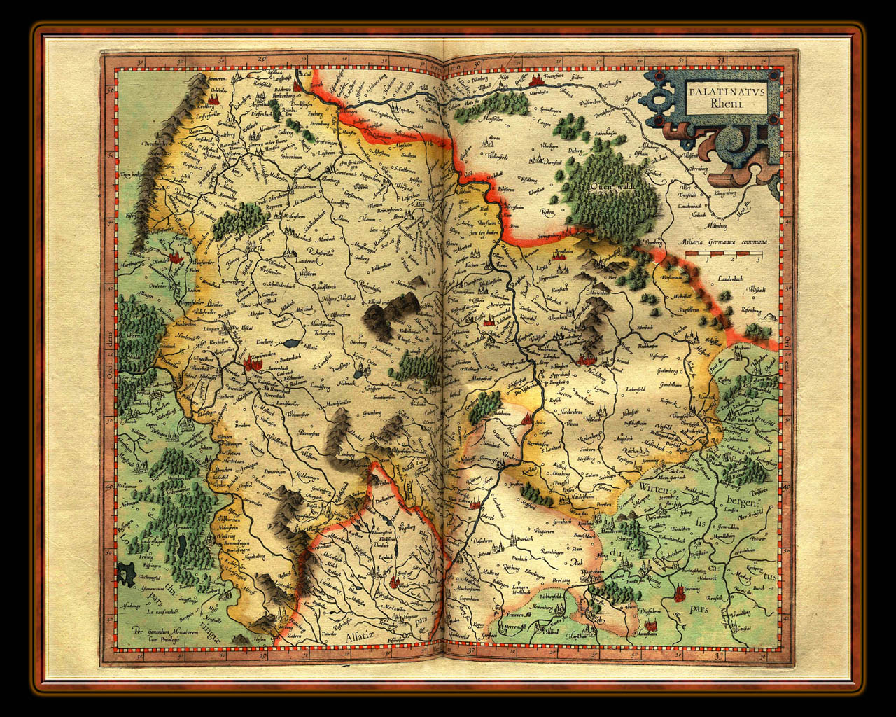 """Gerhard Mercator 1595 World Atlas - Cosmographicae"" - Wallpaper No. 41 of 106. Right click for saving options."