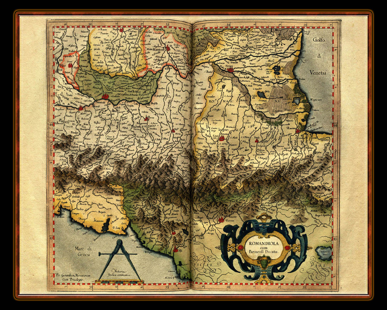 """Gerhard Mercator 1595 World Atlas - Cosmographicae"" - Wallpaper No. 18 of 106. Right click for saving options."
