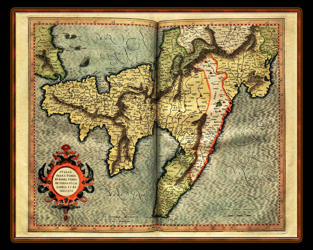 Atlas Desktop Wallpaper Mercator 1595 World Atlas