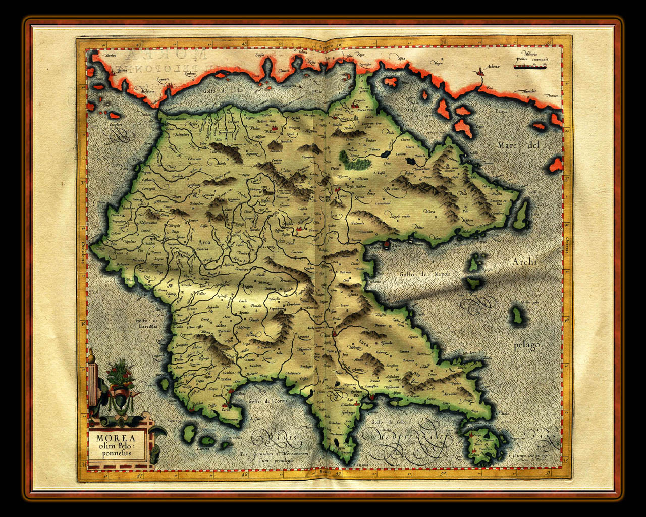 Map Wallpaper   Illuminated Manuscript Atlas Of Maps For Desktop ...