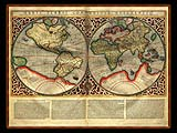 """Gerhard Mercator 1595 World Atlas - Cosmographicae"" - Wallpaper No.106.  Click for 640x480 or select another size."