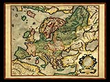 """Gerhard Mercator 1595 World Atlas - Cosmographicae"" - Wallpaper No.105.  Click for 640x480 or select another size."