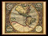 """Gerhard Mercator 1595 World Atlas - Cosmographicae"" - Wallpaper No.102.  Click for 640x480 or select another size."