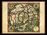 """Gerhard Mercator 1595 World Atlas - Cosmographicae"" - Wallpaper No.101.  Click for 640x480 or select another size."