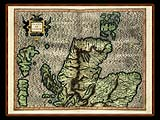 """Gerhard Mercator 1595 World Atlas - Cosmographicae"" - Wallpaper No.97.  Click for 640x480 or select another size."