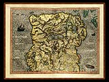 """Gerhard Mercator 1595 World Atlas - Cosmographicae"" - Wallpaper No.94.  Click for 640x480 or select another size."