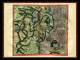 """Gerhard Mercator 1595 World Atlas - Cosmographicae"" - Wallpaper No.92.  Click for 640x480 or select another size."