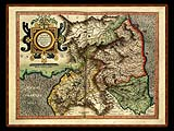 """Gerhard Mercator 1595 World Atlas - Cosmographicae"" - Wallpaper No.89.  Click for 640x480 or select another size."