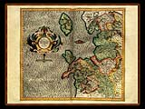 """Gerhard Mercator 1595 World Atlas - Cosmographicae"" - Wallpaper No.88.  Click for 640x480 or select another size."
