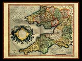 """Gerhard Mercator 1595 World Atlas - Cosmographicae"" - Wallpaper No.87.  Click for 640x480 or select another size."