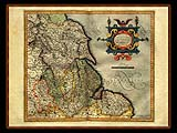 """Gerhard Mercator 1595 World Atlas - Cosmographicae"" - Wallpaper No.86.  Click for 640x480 or select another size."