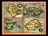 """Gerhard Mercator 1595 World Atlas - Cosmographicae"" - Wallpaper No.84.  Click for 640x480 or select another size."