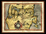 """Gerhard Mercator 1595 World Atlas - Cosmographicae"" - Wallpaper No.81.  Click for 640x480 or select another size."