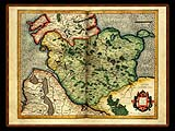"""Gerhard Mercator 1595 World Atlas - Cosmographicae"" - Wallpaper No.80.  Click for 640x480 or select another size."