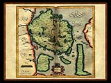 """Gerhard Mercator 1595 World Atlas - Cosmographicae"" - Wallpaper No.78.  Click for 640x480 or select another size."