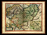 """Gerhard Mercator 1595 World Atlas - Cosmographicae"" - Wallpaper No.76.  Click for 640x480 or select another size."