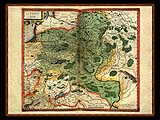 """Gerhard Mercator 1595 World Atlas - Cosmographicae"" - Wallpaper No.75.  Click for 640x480 or select another size."