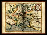 """Gerhard Mercator 1595 World Atlas - Cosmographicae"" - Wallpaper No.73.  Click for 640x480 or select another size."