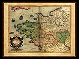 """Gerhard Mercator 1595 World Atlas - Cosmographicae"" - Wallpaper No.71.  Click for 640x480 or select another size."