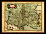"""Gerhard Mercator 1595 World Atlas - Cosmographicae"" - Wallpaper No.70.  Click for 640x480 or select another size."