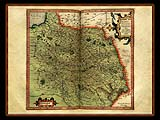 """Gerhard Mercator 1595 World Atlas - Cosmographicae"" - Wallpaper No.69.  Click for 640x480 or select another size."