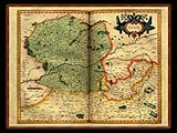 """Gerhard Mercator 1595 World Atlas - Cosmographicae"" - Wallpaper No.68.  Click for 640x480 or select another size."