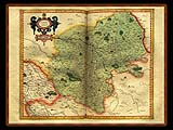 """Gerhard Mercator 1595 World Atlas - Cosmographicae"" - Wallpaper No.67.  Click for 640x480 or select another size."