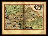 """Gerhard Mercator 1595 World Atlas - Cosmographicae"" - Wallpaper No.66.  Click for 640x480 or select another size."