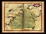 """Gerhard Mercator 1595 World Atlas - Cosmographicae"" - Wallpaper No.63.  Click for 640x480 or select another size."