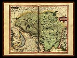 """Gerhard Mercator 1595 World Atlas - Cosmographicae"" - Wallpaper No.62.  Click for 640x480 or select another size."