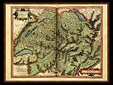 """Gerhard Mercator 1595 World Atlas - Cosmographicae"" - Wallpaper No.61.  Click for 640x480 or select another size."