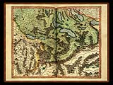 """Gerhard Mercator 1595 World Atlas - Cosmographicae"" - Wallpaper No.58.  Click for 640x480 or select another size."