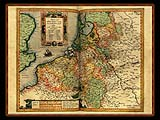 """Gerhard Mercator 1595 World Atlas - Cosmographicae"" - Wallpaper No.57.  Click for 640x480 or select another size."