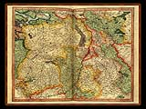 """Gerhard Mercator 1595 World Atlas - Cosmographicae"" - Wallpaper No.55.  Click for 640x480 or select another size."