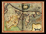 """Gerhard Mercator 1595 World Atlas - Cosmographicae"" - Wallpaper No.54.  Click for 640x480 or select another size."