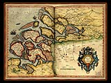 """Gerhard Mercator 1595 World Atlas - Cosmographicae"" - Wallpaper No.53.  Click for 640x480 or select another size."