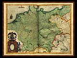 """Gerhard Mercator 1595 World Atlas - Cosmographicae"" - Wallpaper No.48.  Click for 640x480 or select another size."