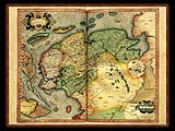 """Gerhard Mercator 1595 World Atlas - Cosmographicae"" - Wallpaper No.47.  Click for 640x480 or select another size."