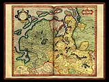 """Gerhard Mercator 1595 World Atlas - Cosmographicae"" - Wallpaper No.46.  Click for 640x480 or select another size."