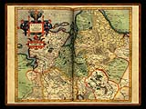 """Gerhard Mercator 1595 World Atlas - Cosmographicae"" - Wallpaper No.45.  Click for 640x480 or select another size."