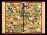 """Gerhard Mercator 1595 World Atlas - Cosmographicae"" - Wallpaper No.44.  Click for 640x480 or select another size."