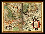 """Gerhard Mercator 1595 World Atlas - Cosmographicae"" - Wallpaper No.43.  Click for 640x480 or select another size."