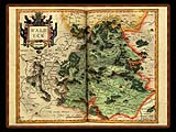 """Gerhard Mercator 1595 World Atlas - Cosmographicae"" - Wallpaper No.42.  Click for 640x480 or select another size."