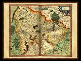 """Gerhard Mercator 1595 World Atlas - Cosmographicae"" - Wallpaper No.41.  Click for 640x480 or select another size."