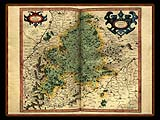 """Gerhard Mercator 1595 World Atlas - Cosmographicae"" - Wallpaper No.40.  Click for 640x480 or select another size."